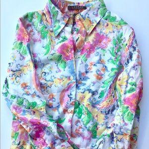 Ralph Lauren Women's Size 2 Small Floral Shirt